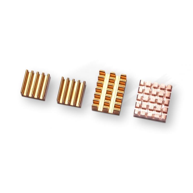 RPi4 radiatory  (1xCU+3alu GOLD)