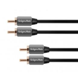 Kabel 2RCA-2RCA 0.5m...