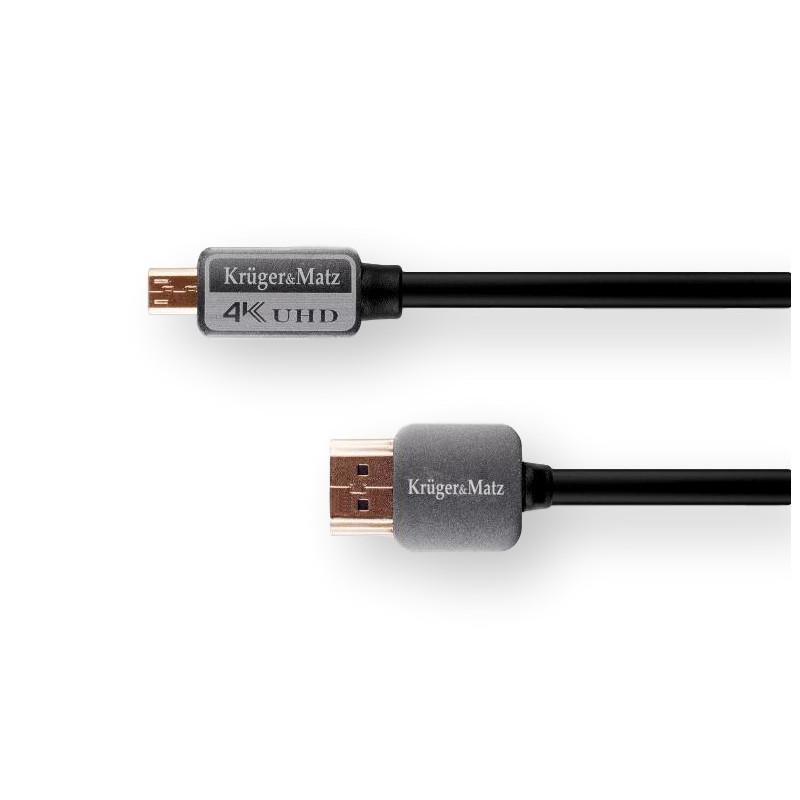 Kabel HDMI-microHDMI 3m Kruger&Matz wtyk-wtyk (A-D)
