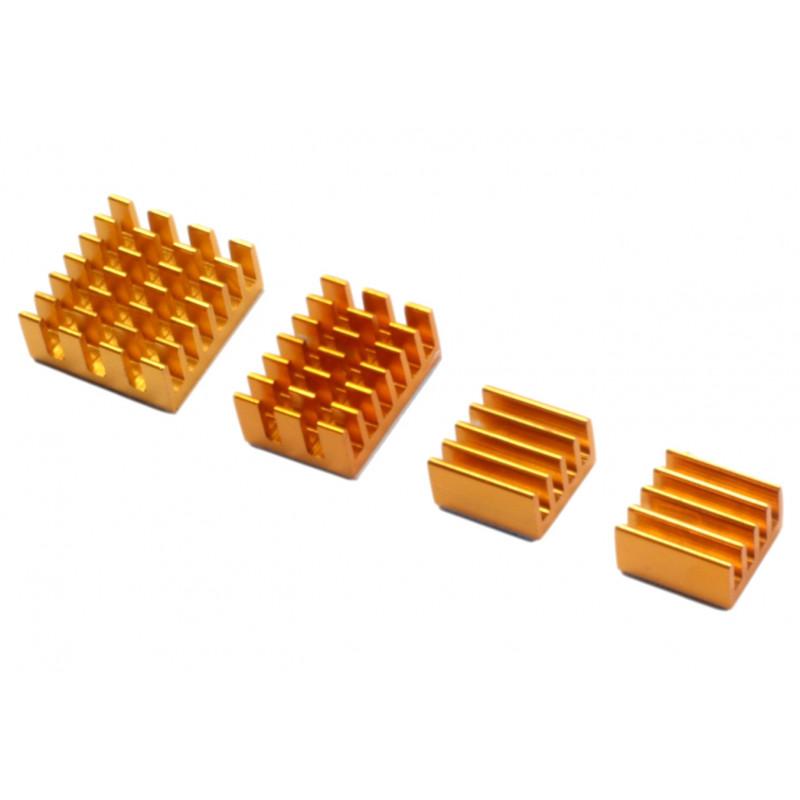 RPi4 radiatory 4-cz. złoty gold