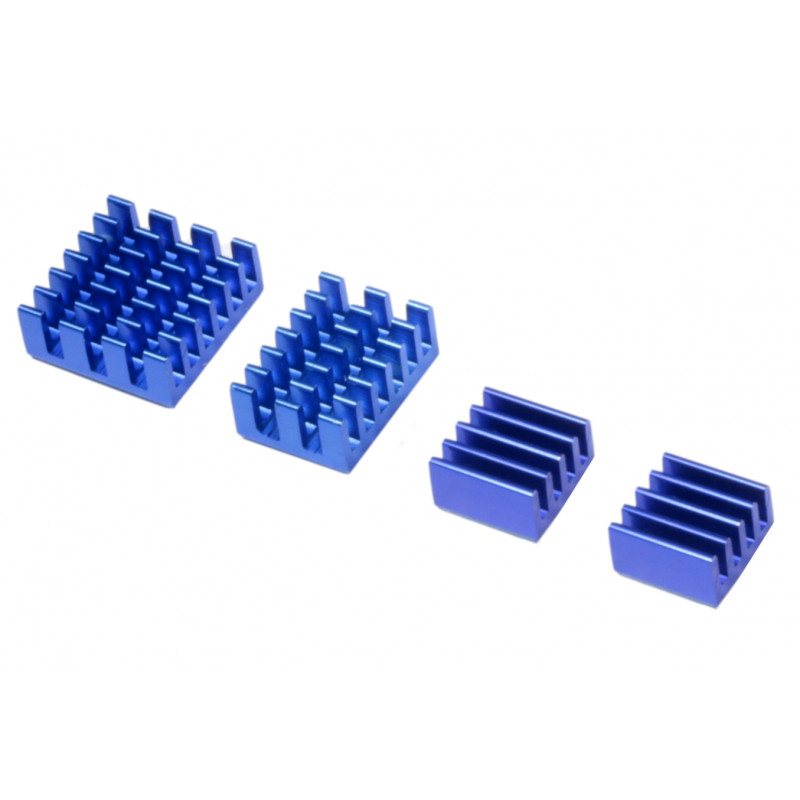 RPi4 radiatory 4-cz.ciemny niebieski