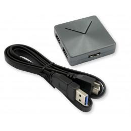 Hub USB 3.0 kwadratowy grafit