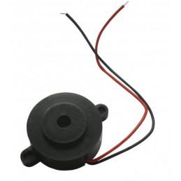 Buzzer FY3215 12V ciągły dźwięk, czarny, 38mm