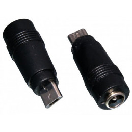Adapter microUSB - DC 2.1/5.5mm