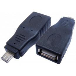 Adapter wtyk microUSB - gniazdo USB