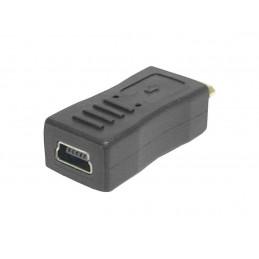 Adapter wtykm microUSB - gniazdo miniUSB