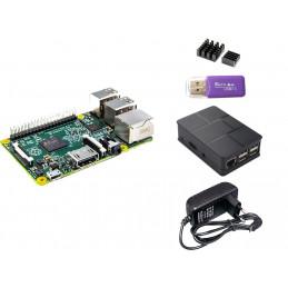 Zestaw Raspberry Pi 3 + obudowa + zasilacz 3A + radiatory + czytnik