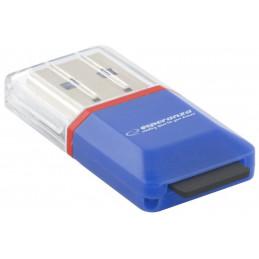 Czytnik kart microSD USB 2.0 niebieski