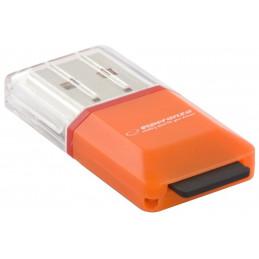 Czytnik kart microSD USB 2.0 pomarańczowy