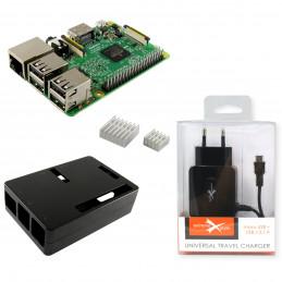 Zestaw Raspberry Pi 3B +obudowa zasilacz radiatory