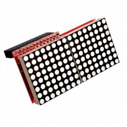 RPI HAT Wyświetlacz LED Matrix czerwone diody
