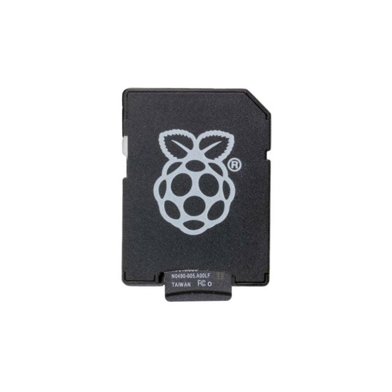 NOOBS microSD 16GB + adapter RPi logo