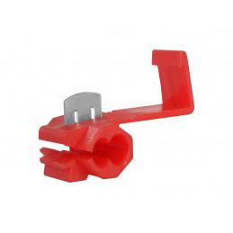 Szybkozłącze sam. zaciskane 0.5-1.5mm czerwone