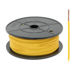 Przewód FLRY-A 0.22 żółty 100m