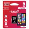 GOODRAM Karta Pamięci MicroSDHC 8GB Class 10 UHS-I + Adapter