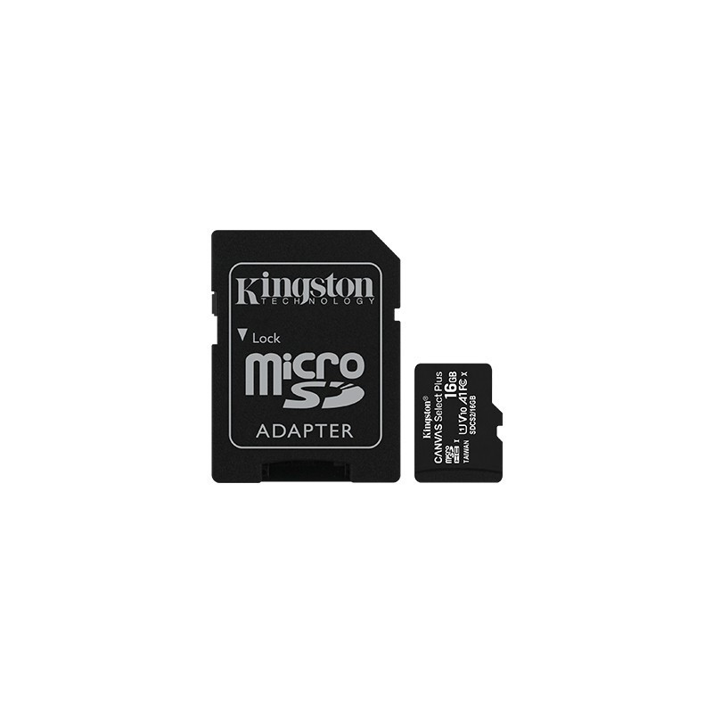 KINGSTON microSD 16GB Canvas Select  Plus 100MB/s Adapter