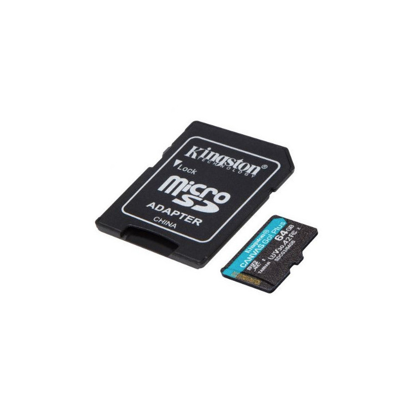 Kingston microSD 64GB Canvas Go Plus 170/70MB/s