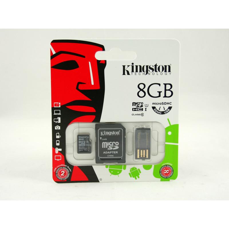 Kingston microSDHC 8GB Class 10 + czytnik USB