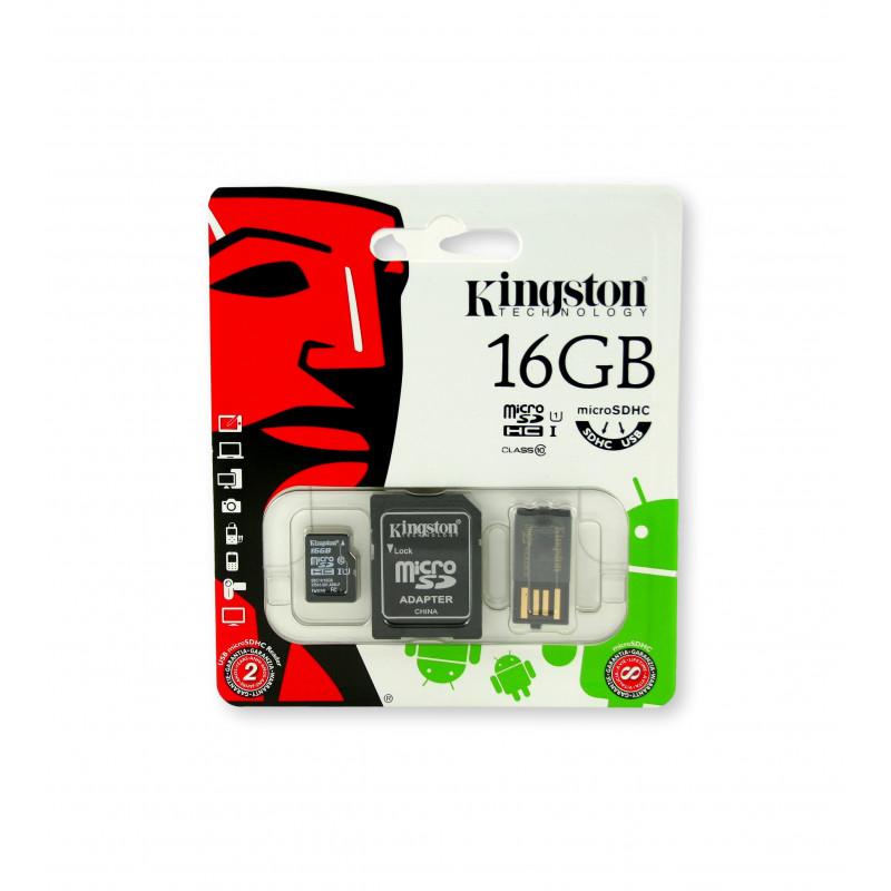 Kingston microSDHC 16GB Class 10 + czytnik USB