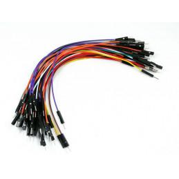 """Kable połączeniowe PREMIUM M-M 6"""" 50szt."""